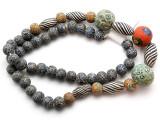 Mixed Javanese Glass Beads 10-25mm (JV1347)