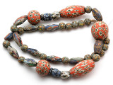 Mixed Javanese Glass Beads 7-35mm (JV1348)