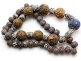 Mixed Javanese Glass Beads 6-20mm (JV1349)