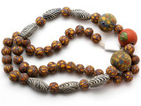 Mixed Javanese Glass Beads 8-24mm (JV1350)