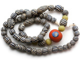 Mixed Javanese Glass Beads 8-20mm (JV1351)