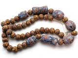 Mixed Javanese Glass Beads 8-35mm (JV1352)