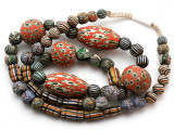 Mixed Javanese Glass Beads 5-32mm (JV1353)