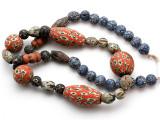 Mixed Javanese Glass Beads 10-38mm (JV1354)