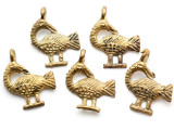 Brass Bird Pendant 30mm - Ghana (ME524)