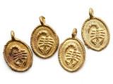 Brass Scorpion Medallion Pendant 30mm - Ghana (ME529)