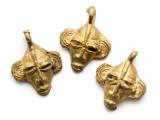 Brass Mask Pendant 22-24mm - Ghana (ME534)