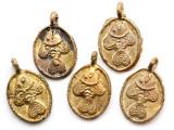 Brass Fish Medallion Pendant 30mm - Ghana (ME535)