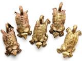 Brass Softshell Turtle Pendant 35mm - Ghana (ME539)