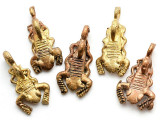 Brass Scorpion Pendant 34mm - Ghana (ME540)
