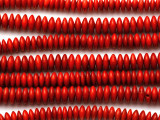 Red Bamboo Coral Saucer Beads 8mm (CO576)