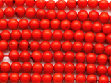 Red Bamboo Coral Round Beads 7mm (CO578)