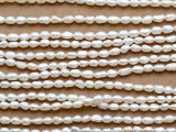 Ivory Rice Pearl Beads 3-4mm (PRL225)