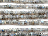 Labradorite Faceted Rondelle Gemstone Beads 6-8mm (GS5155)