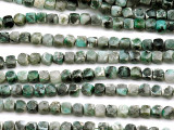 Seraphinite Faceted Cube Gemstone Beads 6mm (GS5156)