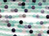 Matte Rainbow Fluorite Round Gemstone Beads 6mm (GS5159)