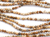 Matte Picture Jasper Round Gemstone Beads 4mm (GS5162)