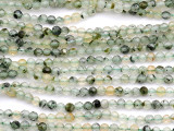 Prehnite Faceted Round Gemstone Beads 4mm (GS5164)