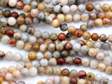 Crazy Lace Agate Round Gemstone Beads 6mm (GS5168)