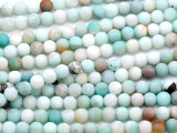 Matte Black Gold Amazonite Round Gemstone Beads 6mm (GS5169)