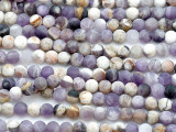 Matte Chevron Amethyst Round Gemstone Beads 6mm (GS5174)