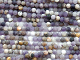 Matte Chevron Amethyst Round Gemstone Beads 4mm (GS5175)