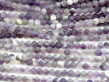Matte Amethyst Round Gemstone Beads 4mm (GS5176)