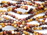 Matte Moukaite Round Gemstone Beads 4mm (GS5182)