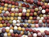 Matte Moukaite Round Gemstone Beads 6mm (GS5184)