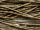Dark Brass Glass African Beads 4-5mm (AT7232)