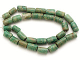Maya Jade Cylinder Beads 10-16mm (GJ507)