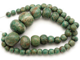 Maya Jade Large Graduated Beads 10-34mm (GJ512)