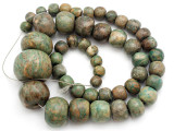 Maya Jade Large Graduated Beads 9-35mm (GJ513)