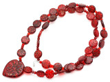 Old Arabic Red Glass Prayer Beads (AT7235)