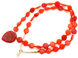 Old Arabic Red Glass Prayer Beads (AT7236)
