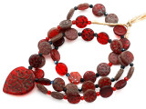 Old Arabic Red Glass Prayer Beads (AT7237)