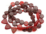 Old Arabic Red Glass Prayer Beads (AT7238)
