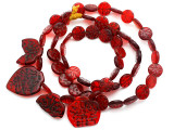 Old Arabic Red Glass Prayer Beads (AT7239)