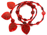 Old Arabic Red Glass Prayer Beads (AT7240)