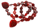 Old Arabic Red Glass Prayer Beads (AT7241)