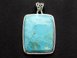 Sterling Silver & Turquoise Pendant 37mm (AP2247)