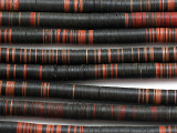 Old Black & Red Vinyl Record Disc Beads 7-8mm (VY248)