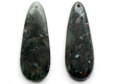 Dragon Blood Jasper Gemstone Earring Pair 42mm (GSP3417)