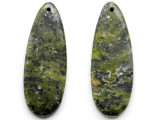 Unakite Gemstone Earring Pair 42mm (GSP3431)
