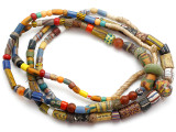 Old Assorted African Trade Beads  - 2 Strands (AT7242)