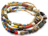 Old Assorted African Trade Beads  - 2 Strands (AT7244)