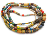 Old Assorted African Trade Beads  - 2 Strands (AT7245)