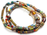 Old Assorted African Trade Beads  - 2 Strands (AT7246)