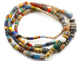 Old Assorted African Trade Beads  - 2 Strands (AT7247)