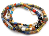 Old Assorted African Trade Beads  - 2 Strands (AT7249)